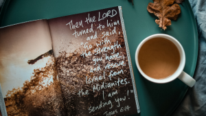 starting your morning with Bible verses and coffee